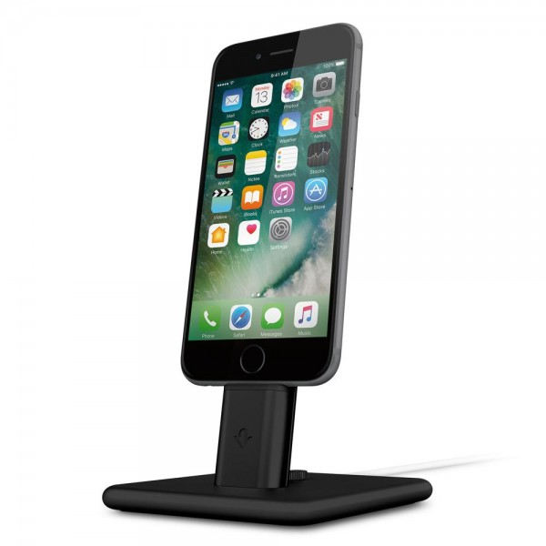 Twelve South HiRise Deluxe 2 Desktop Stand inkl. Lighting und Micro-USB-Kabel für Apple iPhone, Smar