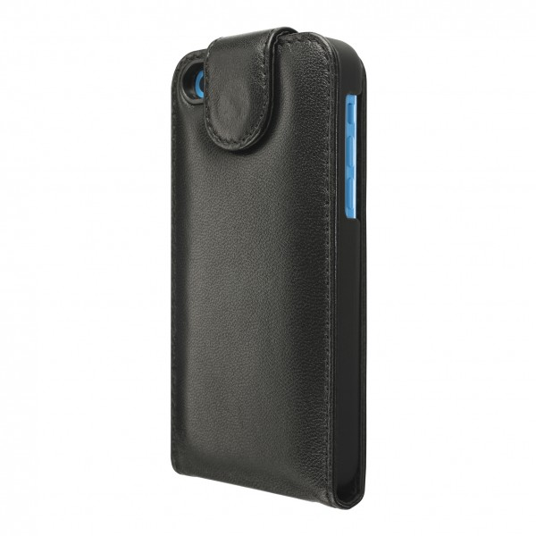 Artwizz SeeJacket Leather Flip für Apple iPhone 5c - Schwarz