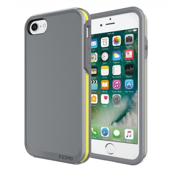 Incipio Performance Series Case [Ultra] für Apple iPhone 8 und 7 - grau/gelb