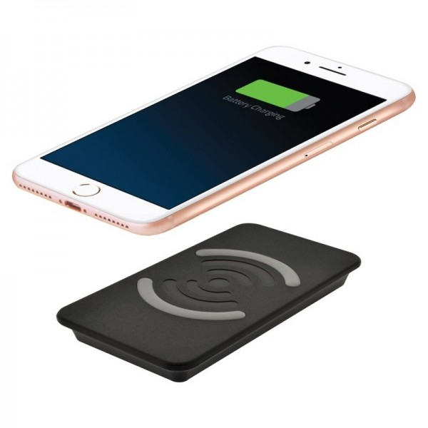 4-OK QI induktive Ladebasis/Ladestation 10W Fast Wireless Charger - Schwarz