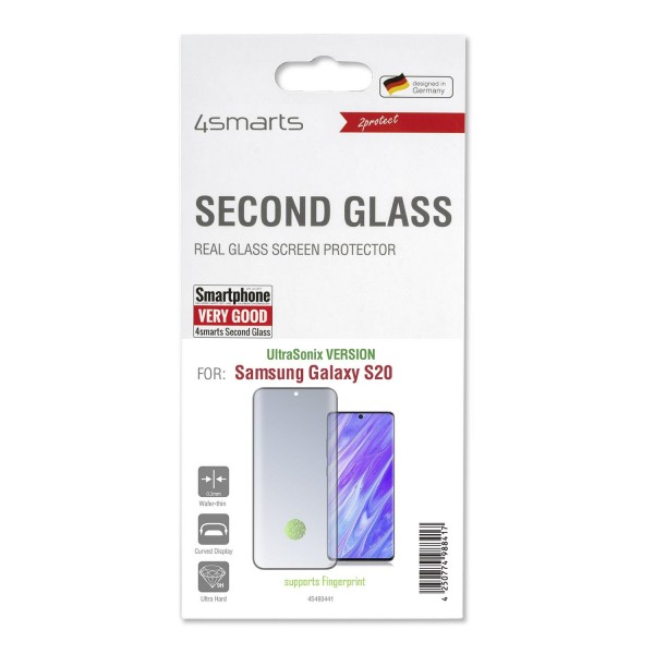 4smarts Second Glass UltraSonix mit Colour Frame für Samsung Galaxy S20 - Schwarz