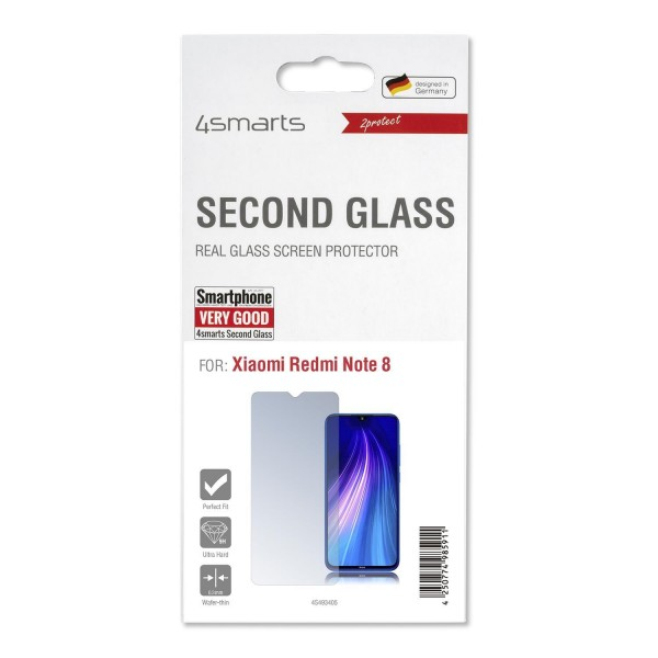4smarts Second Glass für Xiaomi Redmi Note 8 Displayschutz