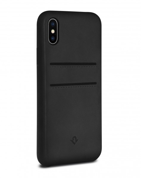 Twelve South Relaxed Leather Clip mit Pockets für Apple iPhone X/Xs - Schwarz