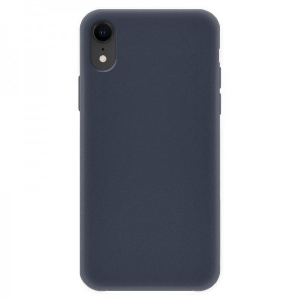 4-OK Silk Cover für Apple iPhone XR mit Samt-Innenfutter - Night Blue (Blau)