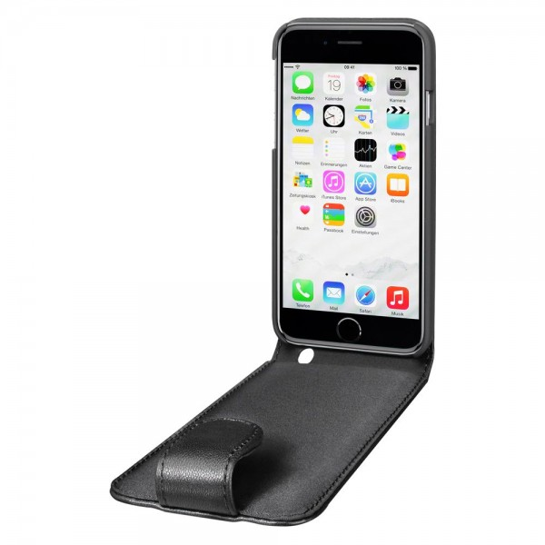 Artwizz SeeJacket Leather Flip für Apple iPhone 6 Plus/6s Plus - Schwarz