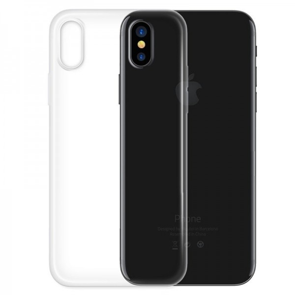 4-OK Protek Ultra Slim 0.2 Schutzhülle für Apple iPhone X/Xs - Transparent