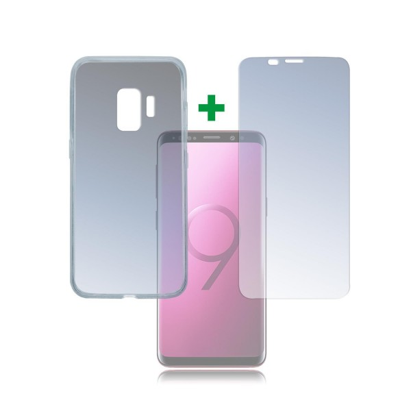 "4smarts 360 Premium Protection Set ""Case Friendly"" für Samsung Galaxy S9 - Transparent"