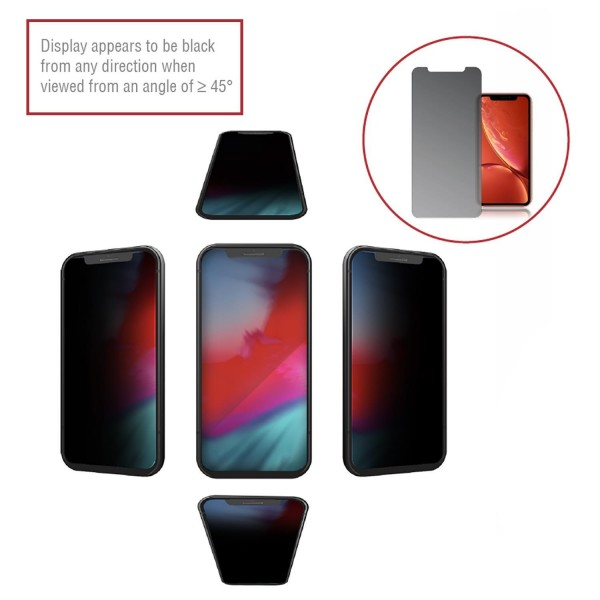 4smarts Second Glass Privacy Pro 4Way Anti-Spy für Apple iPhone 11 / XR