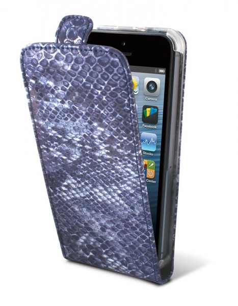 TammyB Reptilia Tasche für Apple iPhone 5 in Blau