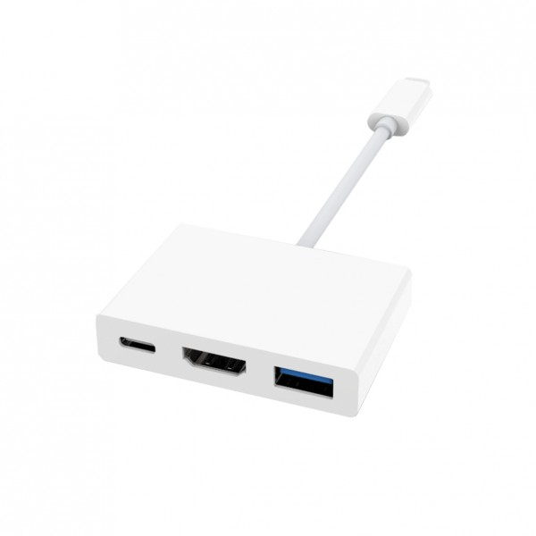 Artwizz USB-C High-Speed Adapter to HDMI & USB-A - Weiss