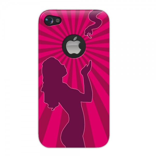 4-OK Protective Back Housing Cover Eva für Apple iPhone 4 und 4S