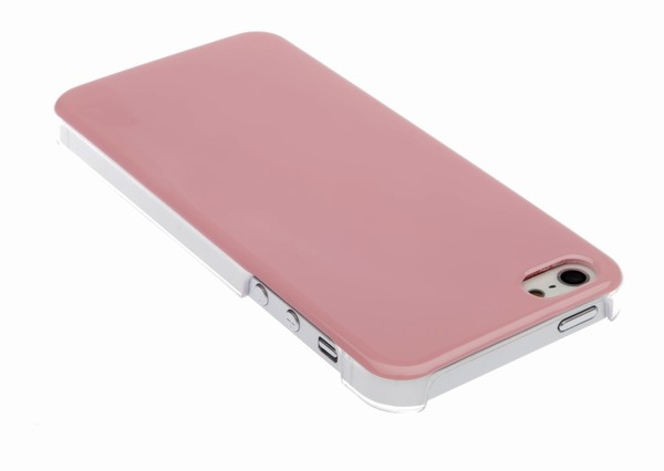 4-OK Back Cover für Apple iPhone 5 in Pink