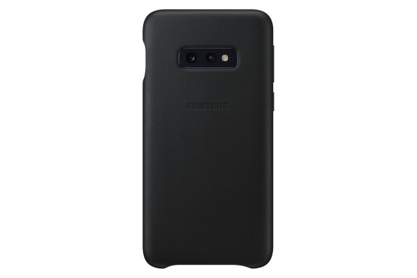 Samsung Leather Cover für Galaxy S10e - Schwarz