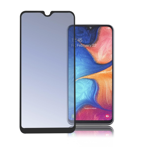 4smarts Second Glass 2.5D Colour Frame für Samsung Galaxy A20e schwarz
