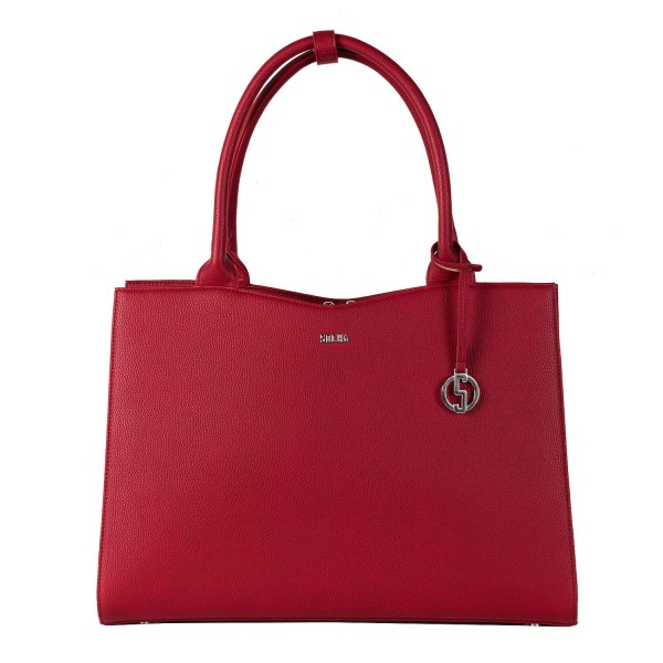 "Socha Buiness Bag Straight Line mit Fach für Laptops bis 15.6"" - Red"
