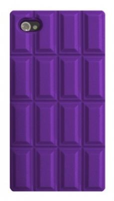 4-OK Silicone Case Design Chocolate Lila für Apple iPhone 4 und 4S