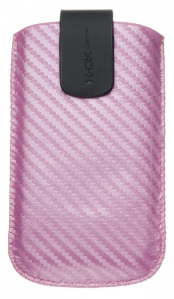 4-OK UP! Handytasche Carbon Pink (TiP: 115 x 62 x 13mm)