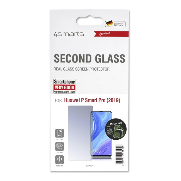 4smarts Second Glass Limited Cover für Huawei P Smart Pro (2019)