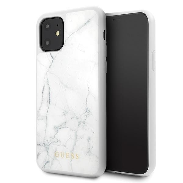 Guess Marble Collection Hard Case Hülle für Apple iPhone 11 Pro Max - Weiss