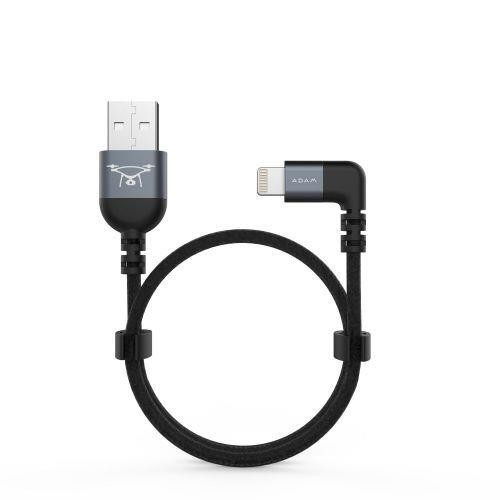 Adam Elements PeAk II L30B MicroUSB/USB-C/Lightning Cable für Drone Remote Controller - Grau
