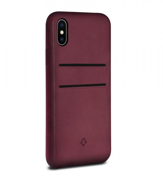 Twelve South Relaxed Leather Clip mit Pockets für Apple iPhone X/Xs - marsala