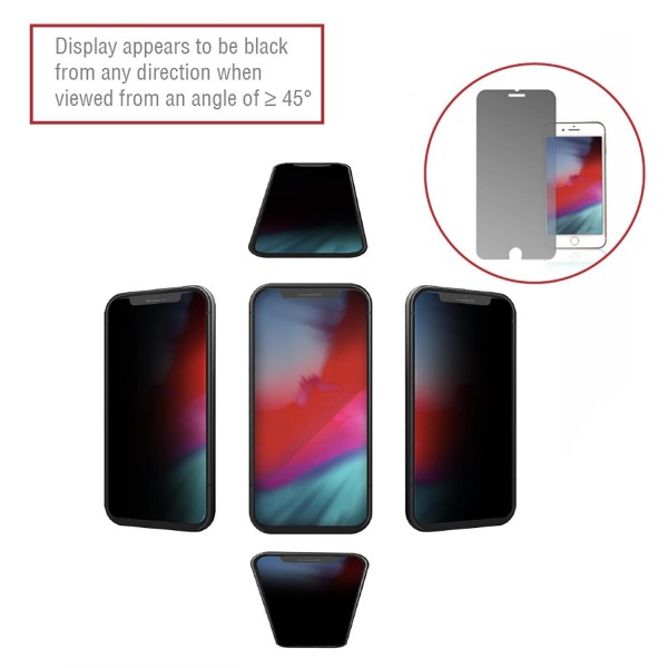 4smarts Second Glass Privacy Pro 4Way Anti-Spy für Apple iPhone 8/7
