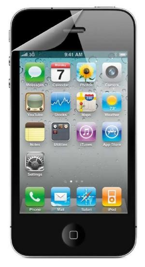 4-OK SCREEN PROTECTOR Display Schutzfolie für Apple iPhone 4 und 4S