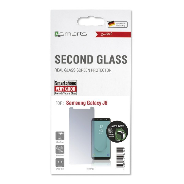 4smarts Second Glass Limited Cover für Samsung Galaxy J6