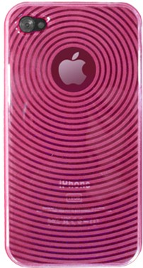 4-OK Plastic Case TPU Wave Pink für Apple iPhone 4 und 4S