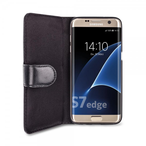 Artwizz SeeJacket Leather für Samsung Galaxy S7 edge - Schwarz