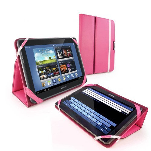 Tuff-Luv Type-View Tasche für Samsung Galaxy Note - 10.1 in Pink