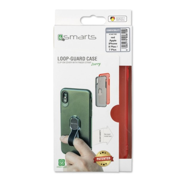 4smarts Clip-On Cover LOOP-GUARD für Apple iPhone 8 Plus / iPhone 7 Plus - Rot