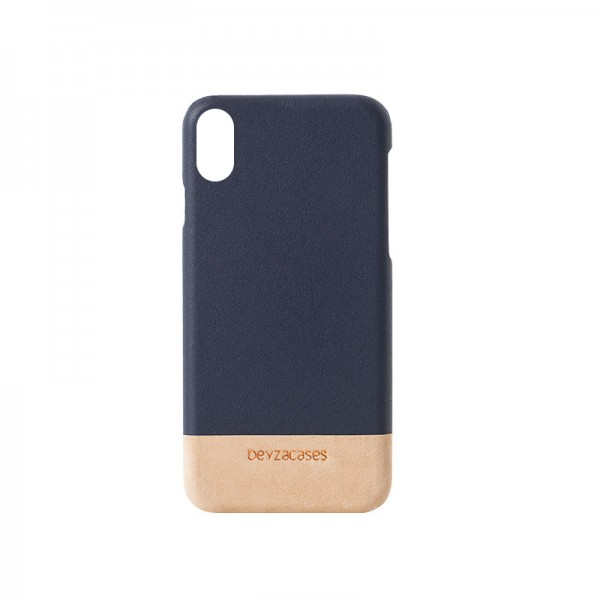 Beyzacases Venice Hülle für Apple iPhone Xs/X in Navy-Cream