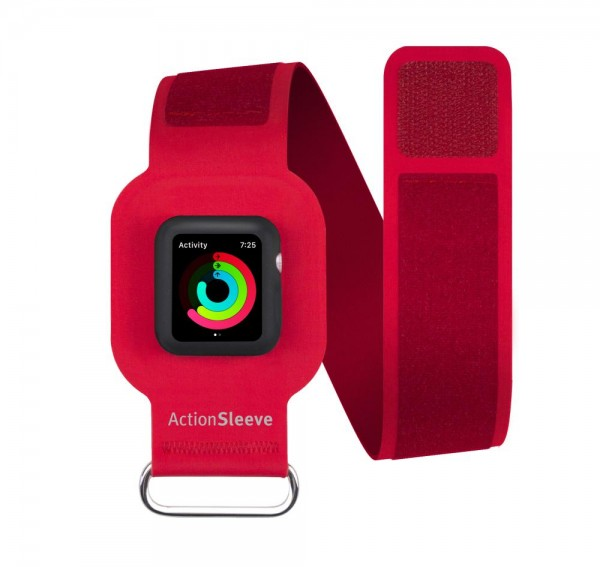 Twelve South ActionSleeve Neopren Armband für 38mm Apple Watch - Rot
