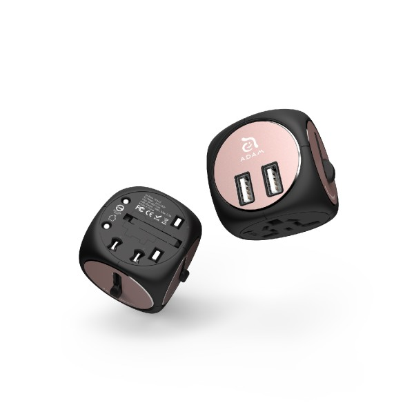 Adam Elements OMNIA TA502 - Travel Adapter - Schwarz/Rose Gold