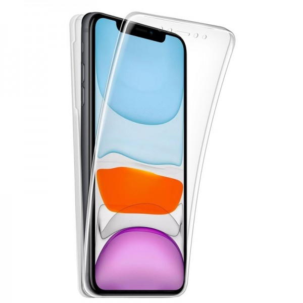 4-OK 360 Protek Case Schutz Hülle für Apple iPhone 11 - Transparent