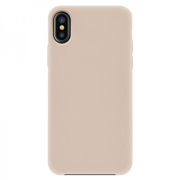4-OK Silk Cover für Apple iPhone X/XS mit Samt-Innenfutter - Make Up (Beige)
