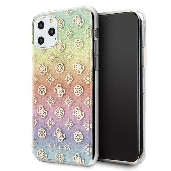 Guess 4G Peony Iridescent Case für Apple iPhone 11 Pro - Mehrfarbig