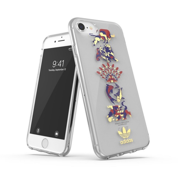 adidas OR Clear Case CNY SS21 für Apple iPhone 6/6s/7/8/SE 2G - Colourful