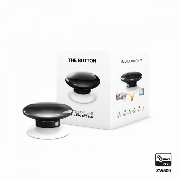 FIBARO The Button - Universeller manueller Schalter - Schwarz