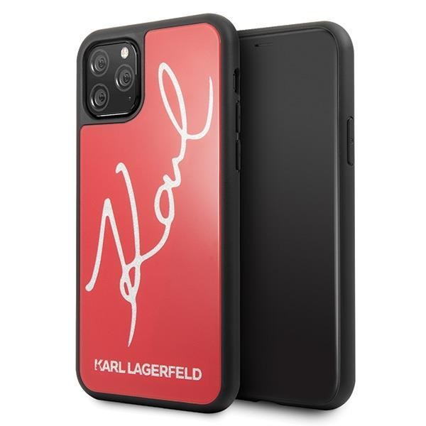 Karl Lagerfeld Double Layer HC Karl Signature Case für Apple iPhone 11 Pro Max - Rot