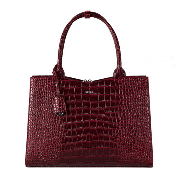 Socha Crocodile Burgundy Business Bag für Notebooks bis 15,6""
