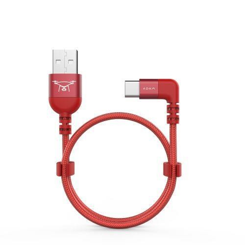 Adam Elements PeAk II C30B MicroUSB/USB-C/Lightning Cable für Drone Remote Controller - Rot
