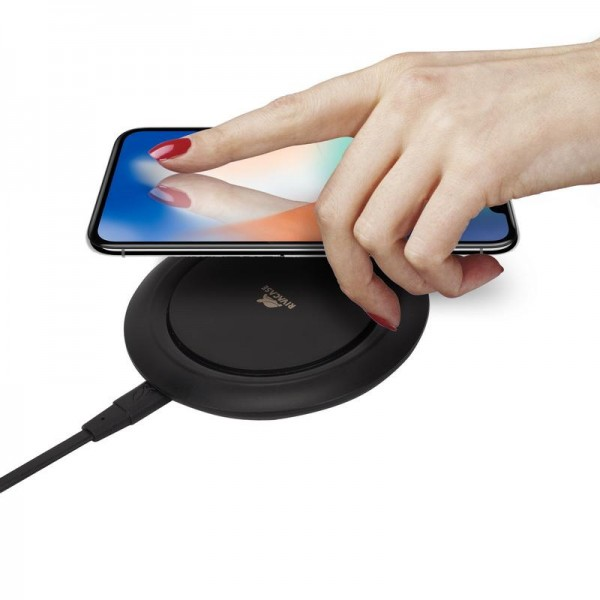 RivaCase VA4913 BD1 QI Wireless Fast Charger Ladestation 10W - Schwarz