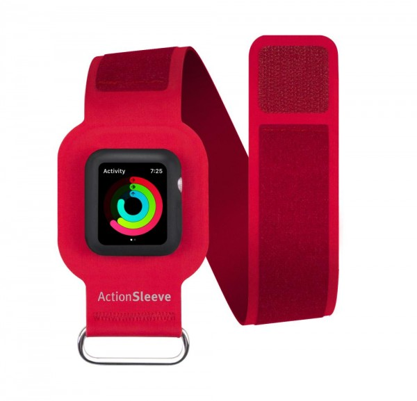 Twelve South ActionSleeve Neopren Armband für 42mm Apple Watch - Rot