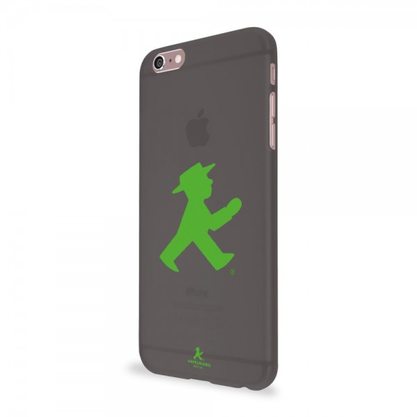 Artwizz Rubber Clip für Apple iPhone 6/6s - Transparent Schwarz + Green Walker (Ampelmann Edition)