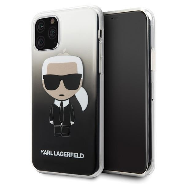 Karl Lagerfeld Iconic Gradient Case für Apple iPhone 11 - Schwarz