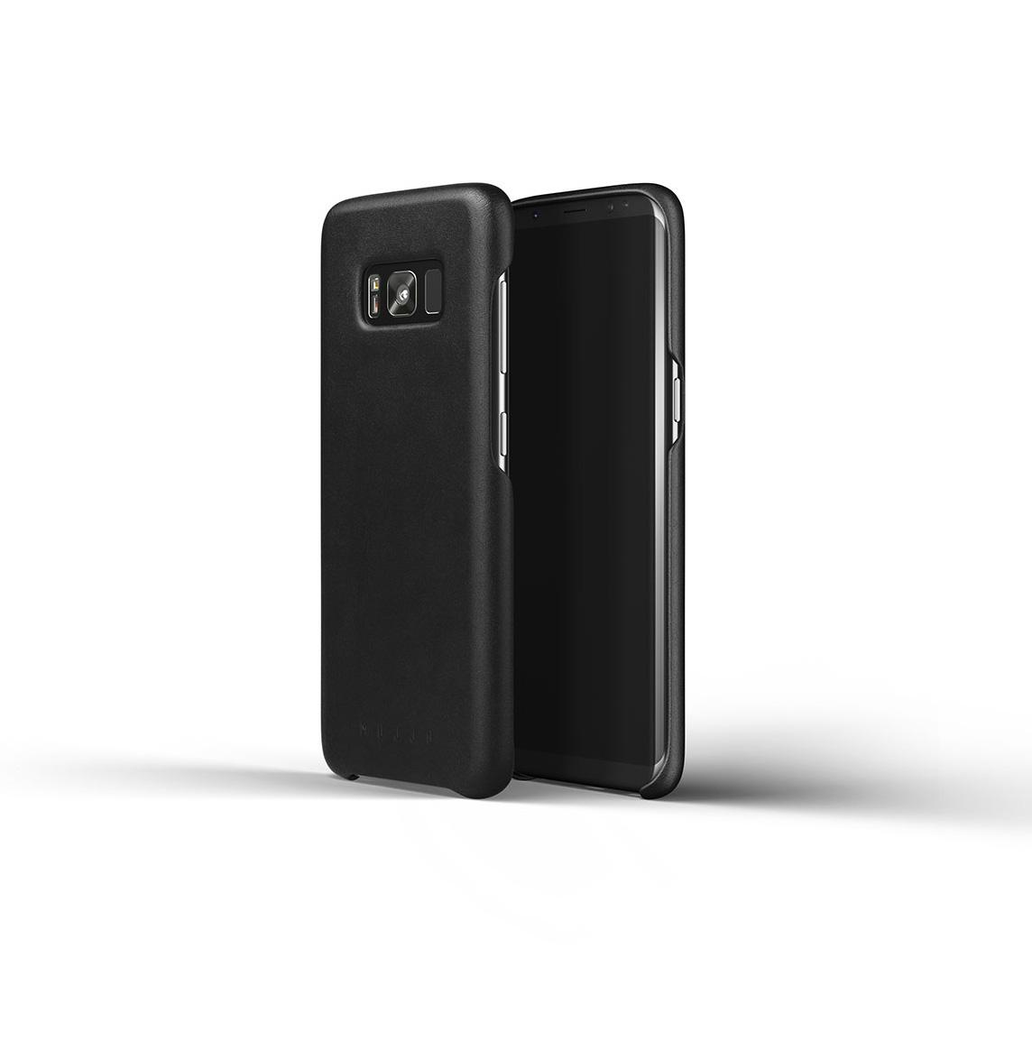 low priced 4f9a3 baa80 Details zu Mujjo Leather Case Leder Hülle Cover Etui in Schwarz für Samsung  Galaxy S8 Plus